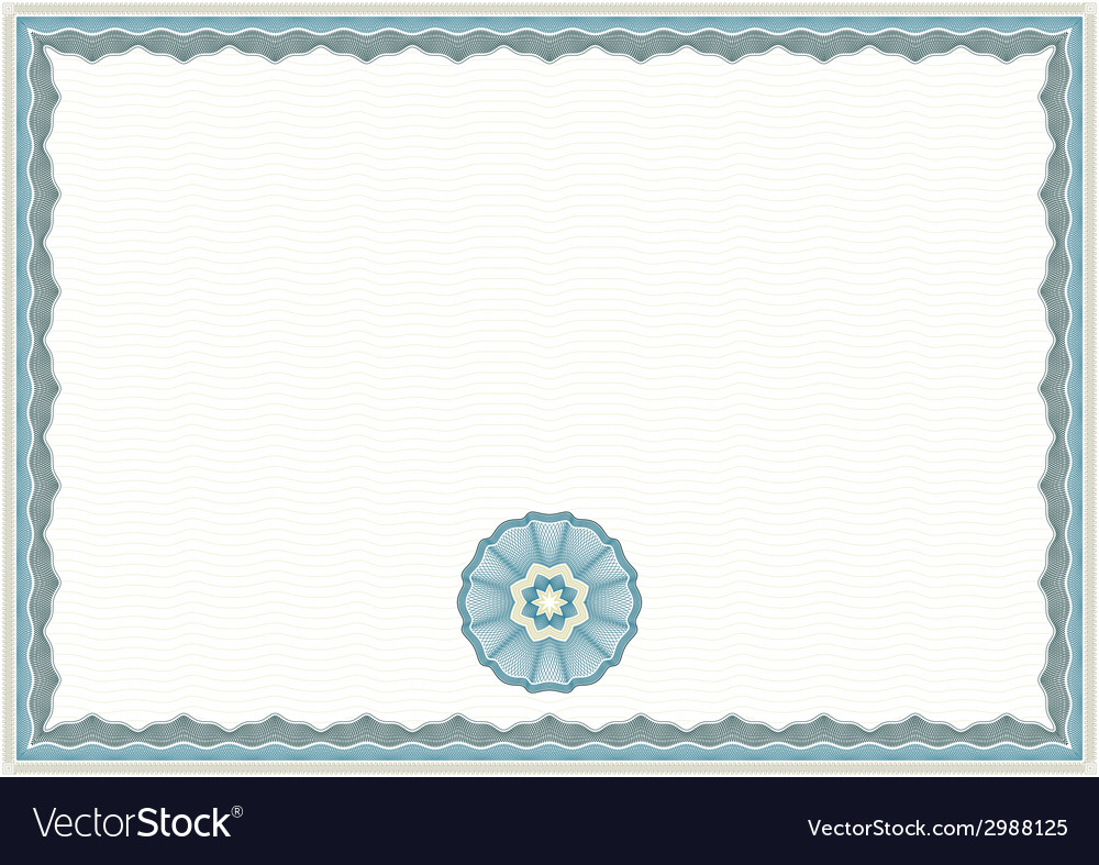 Guilloche certificate template vector | Price: 1 Credit (USD $1)