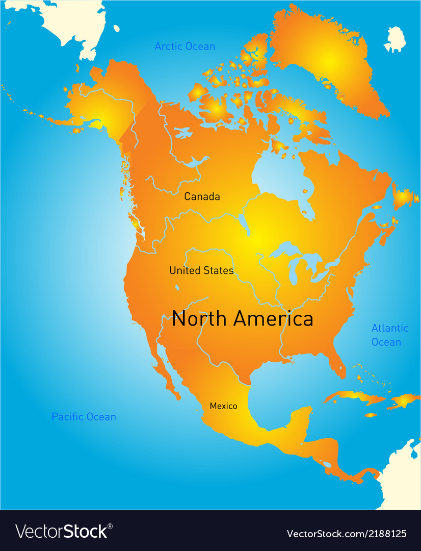Map of north america vector   Price: 1 Credit (USD $1)