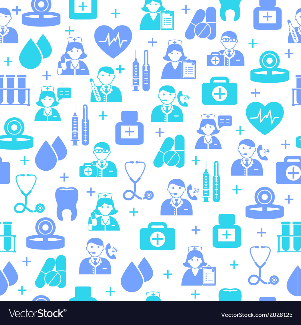 Medical seamless pattern background vector | Price: 1 Credit (USD $1)