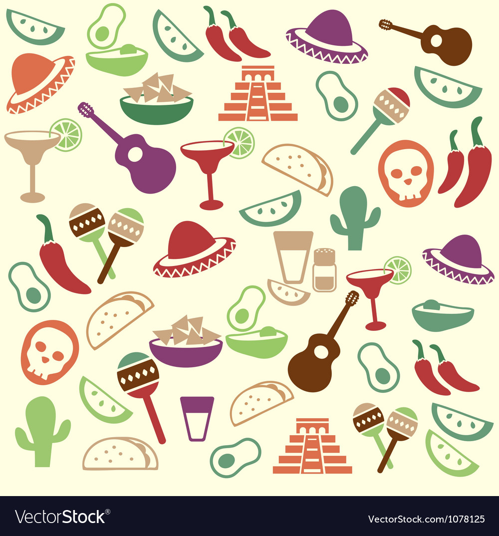 Mexican seamless pattern vector | Price: 1 Credit (USD $1)