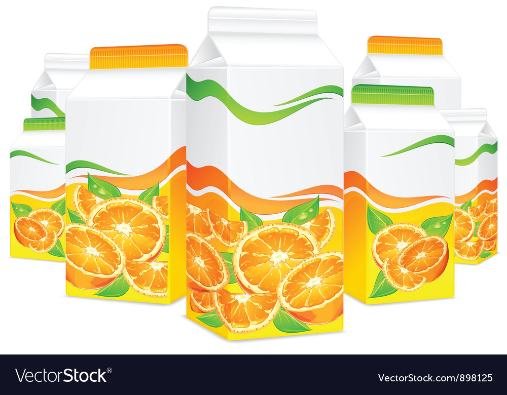 Packing lot orange juice vector | Price: 3 Credit (USD $3)