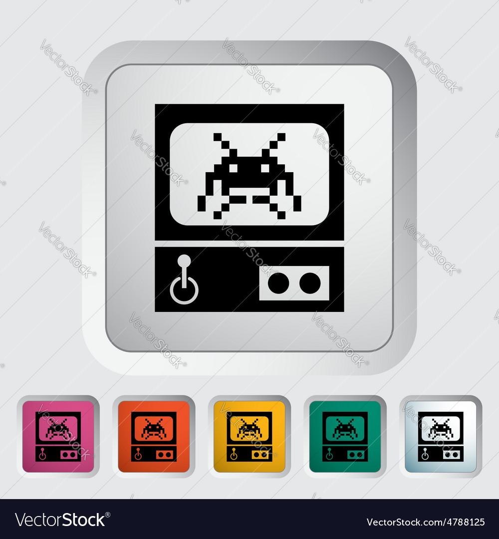 Retro arcade machine vector | Price: 1 Credit (USD $1)