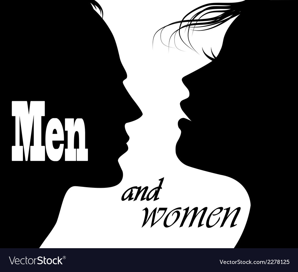 Silhouettes of men and women vector | Price: 1 Credit (USD $1)