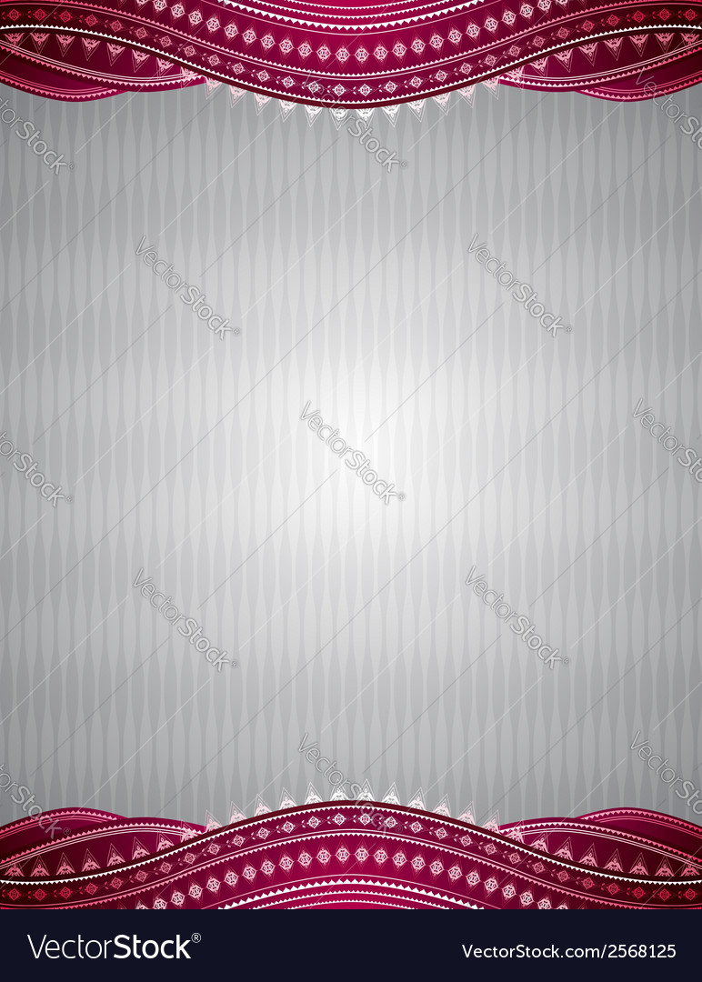 Silver background with decorative ornaments vector | Price: 1 Credit (USD $1)