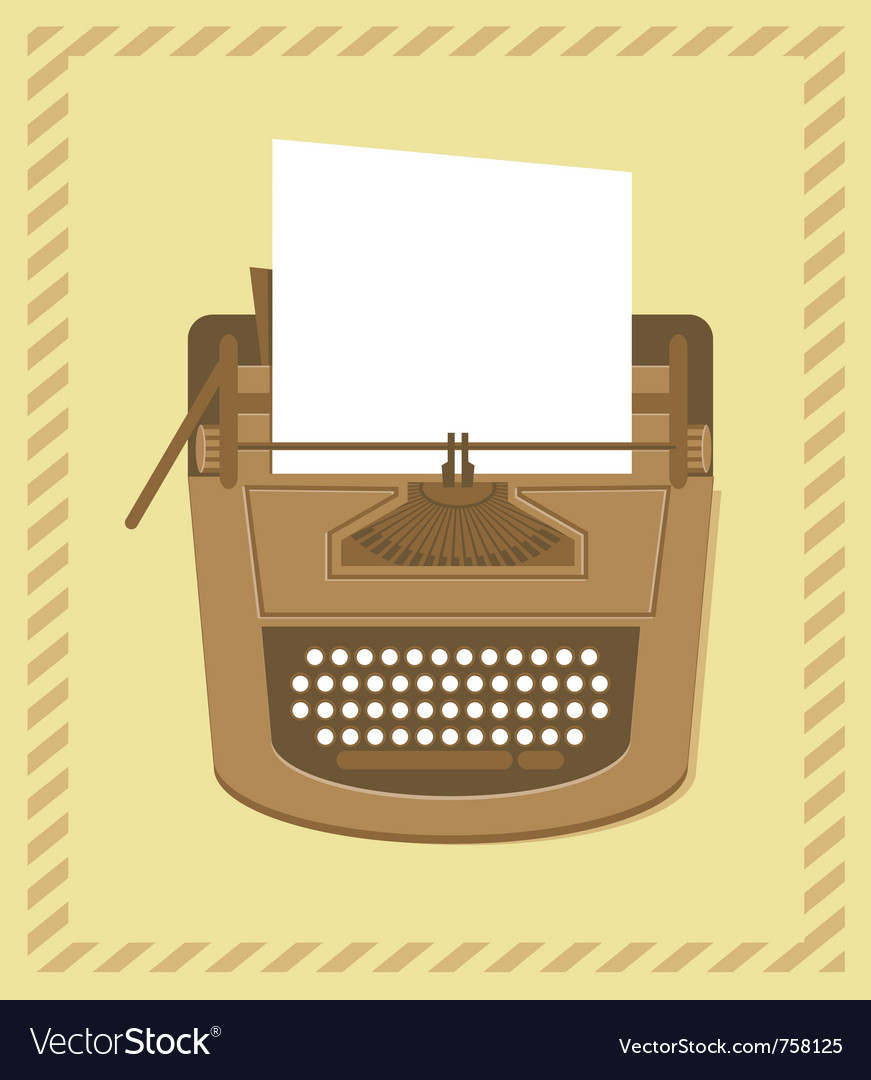Typewriter in retro style - card vector | Price: 3 Credit (USD $3)