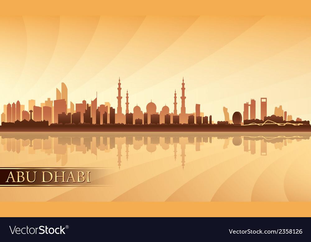 Abu dhabi city skyline silhouette background vector | Price: 1 Credit (USD $1)