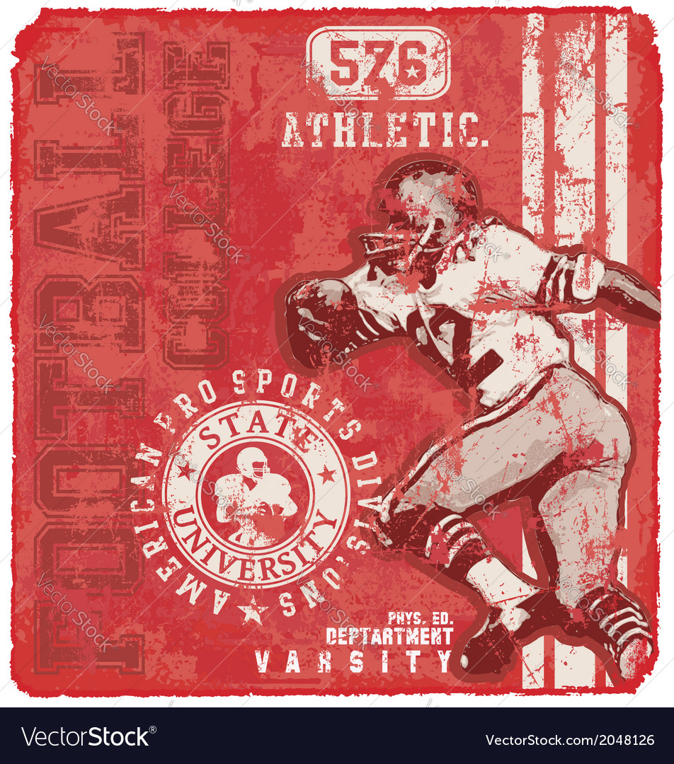 Athletic football varsity vector | Price: 3 Credit (USD $3)