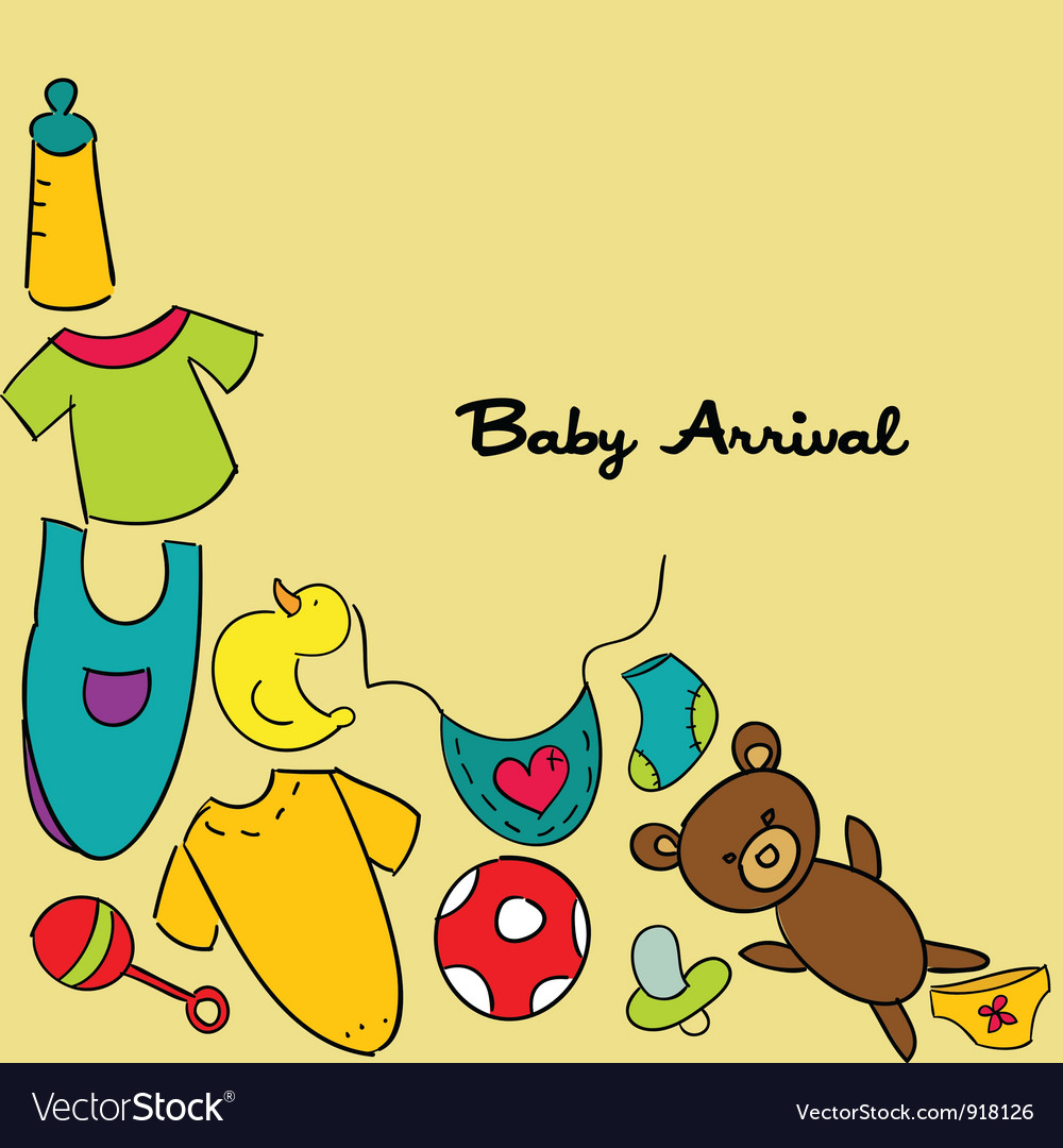 Baby arrival vector | Price: 1 Credit (USD $1)