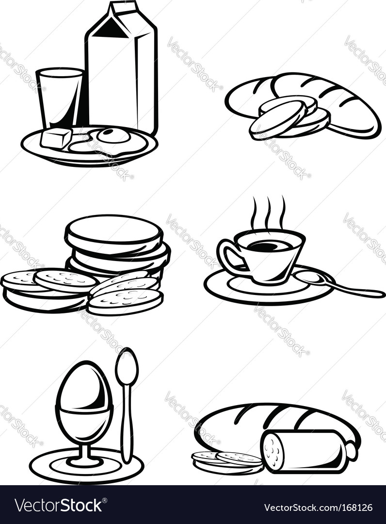 Breakfast food vector | Price: 1 Credit (USD $1)