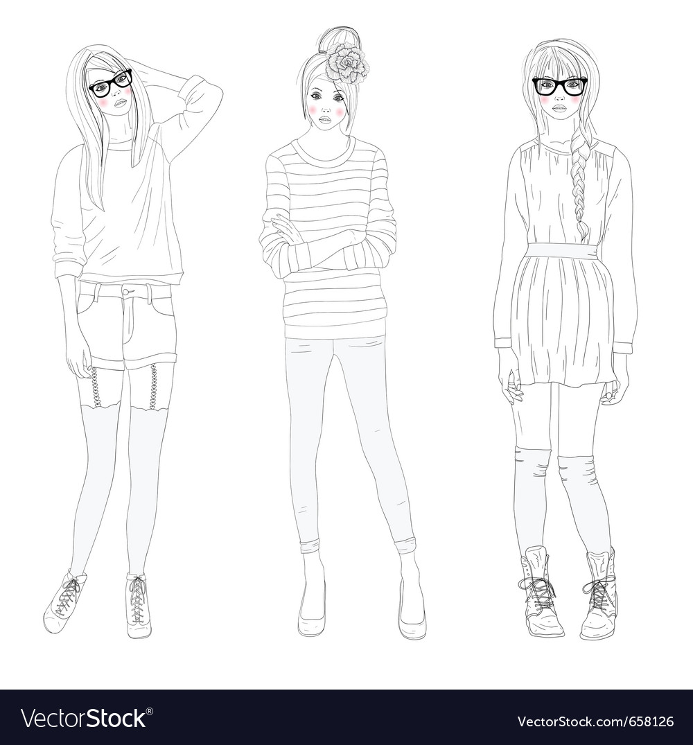 Fashion girls bags vector | Price: 3 Credit (USD $3)
