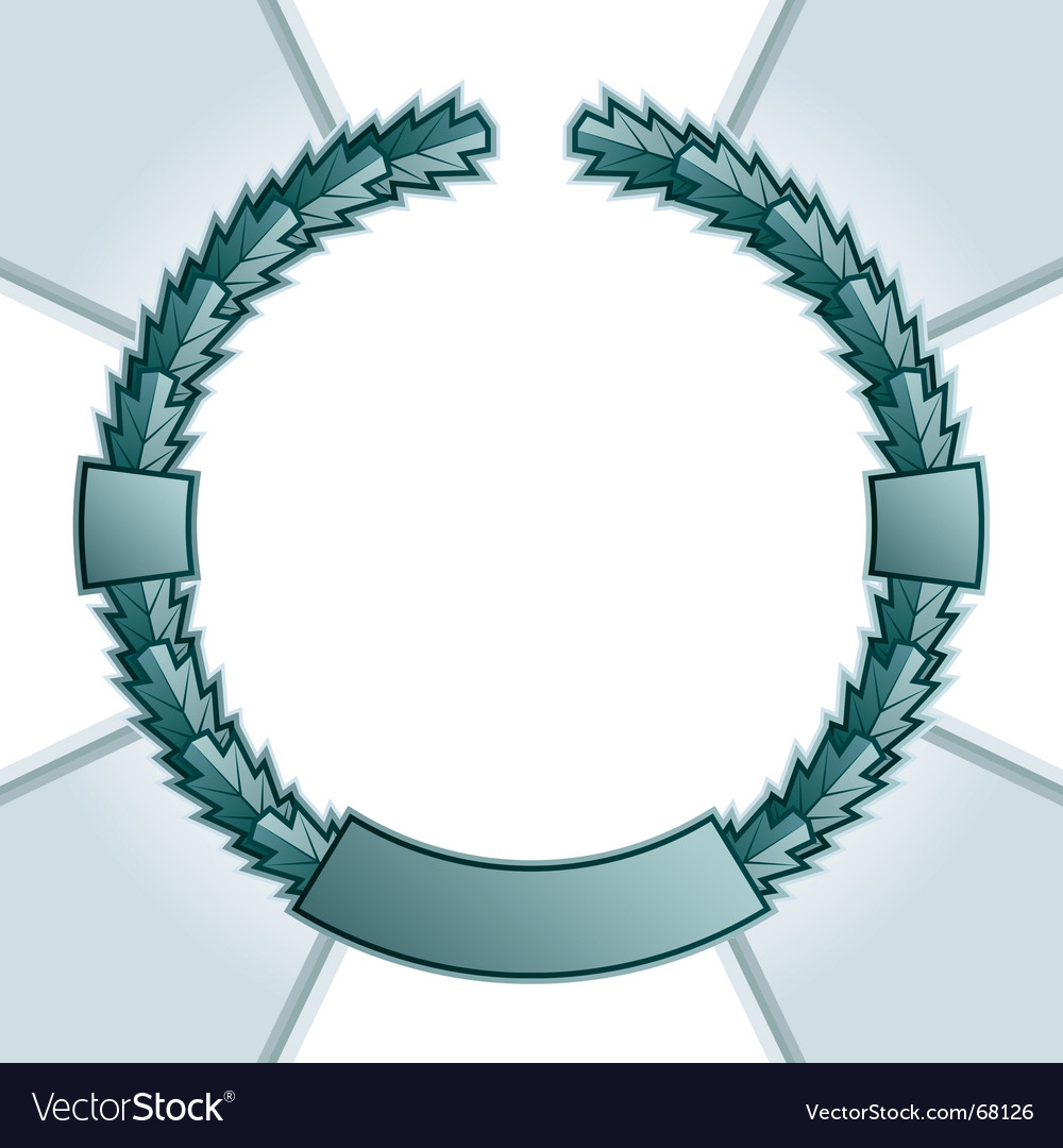Garland frame vector | Price: 1 Credit (USD $1)