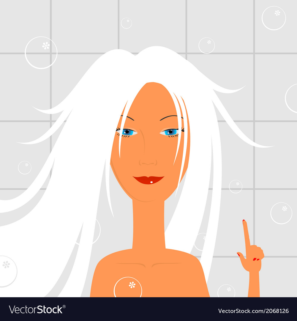 Girl in the bathroom vector | Price: 1 Credit (USD $1)
