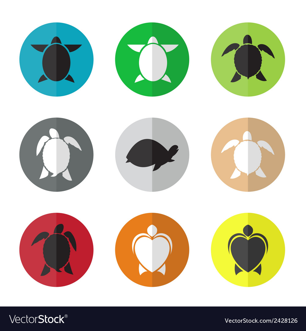 Group of turtle in the circle vector | Price: 1 Credit (USD $1)