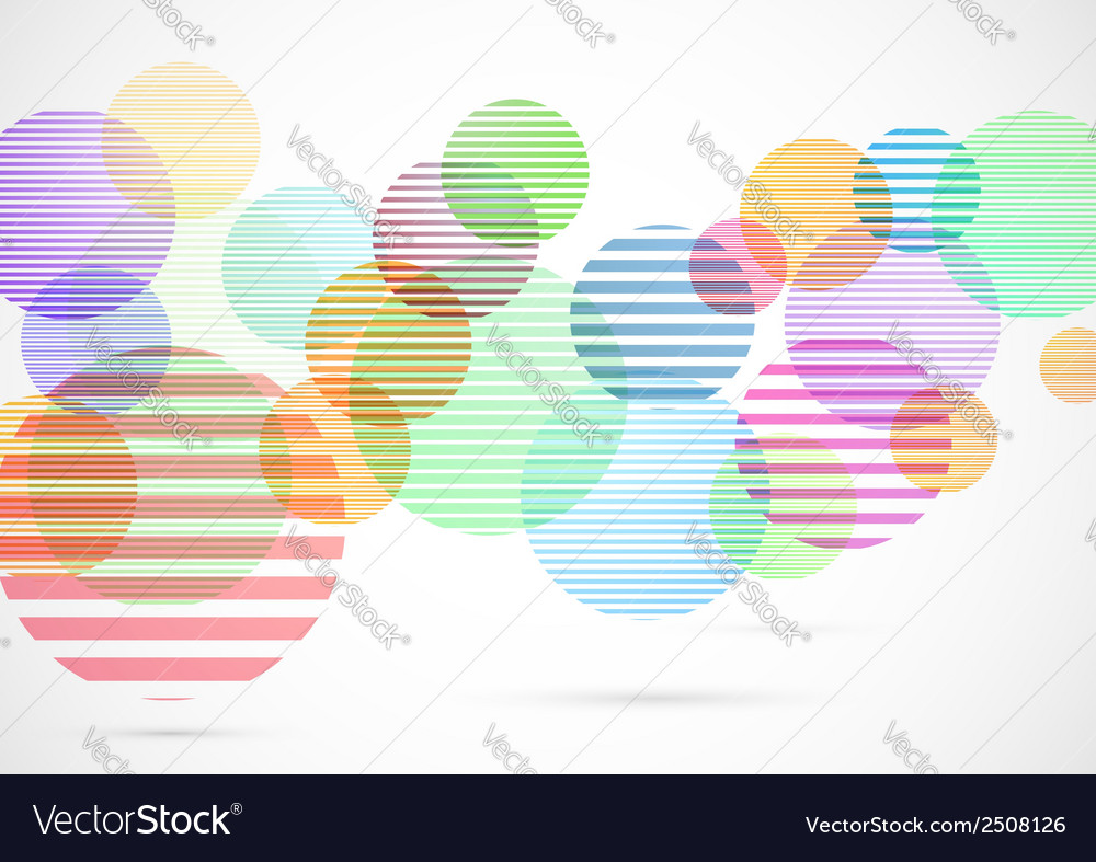 Retro circle elements colorful bright background vector | Price: 1 Credit (USD $1)