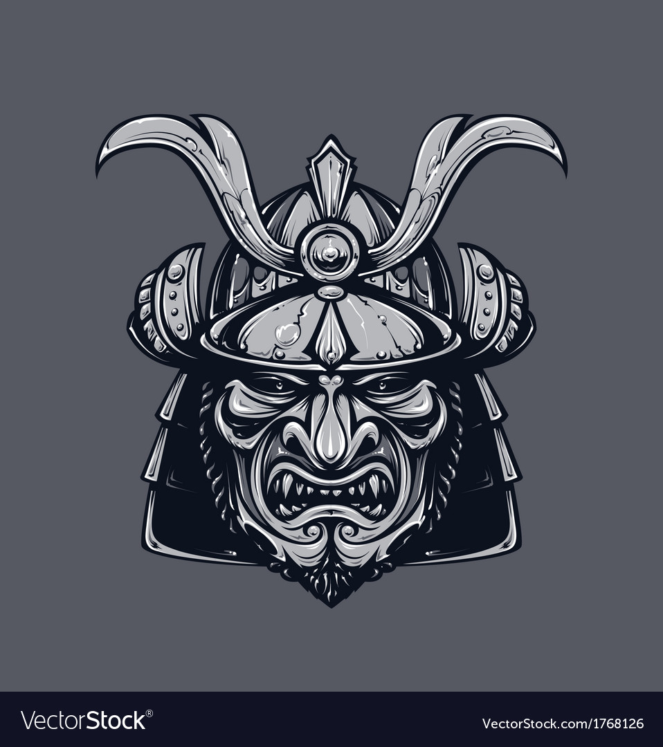 Samurai mask 3 vector | Price: 1 Credit (USD $1)
