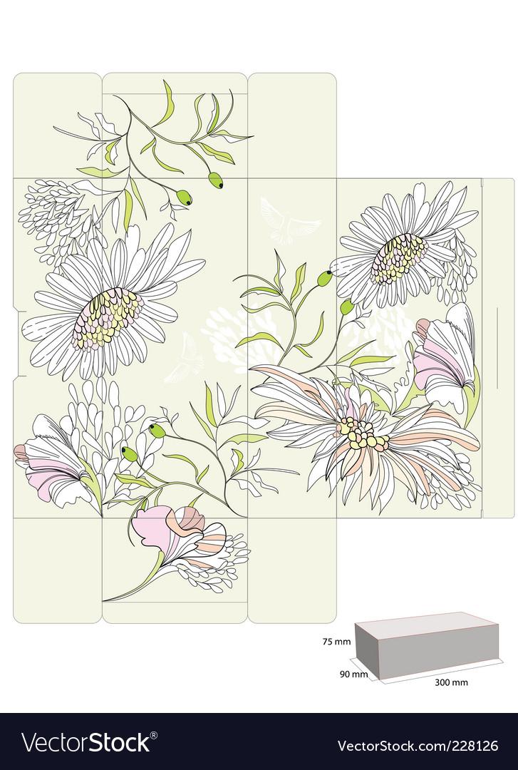 Template for decorative box vector | Price: 1 Credit (USD $1)