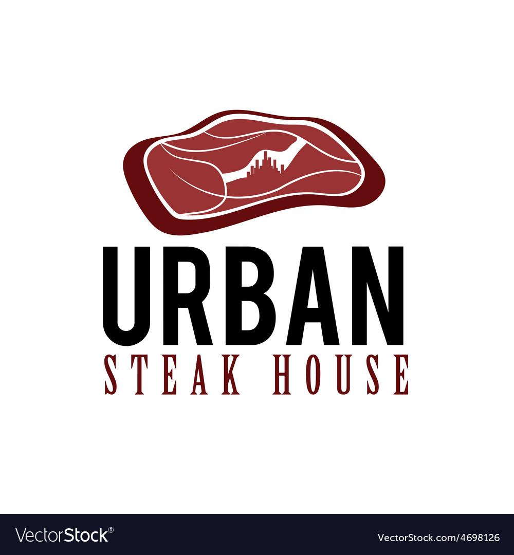 Urban steak house concept vector | Price: 1 Credit (USD $1)