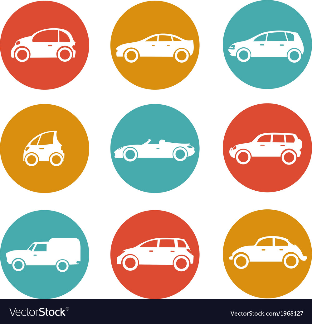 Cars in circles vector | Price: 1 Credit (USD $1)