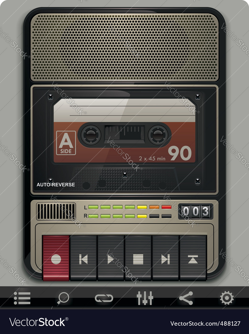 Cassette recorder template vector | Price: 5 Credit (USD $5)