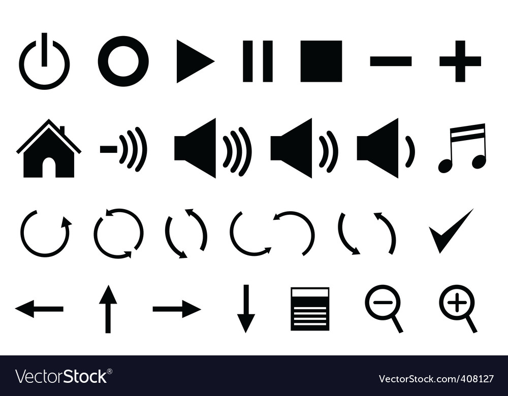 Control panel icons vector | Price: 1 Credit (USD $1)