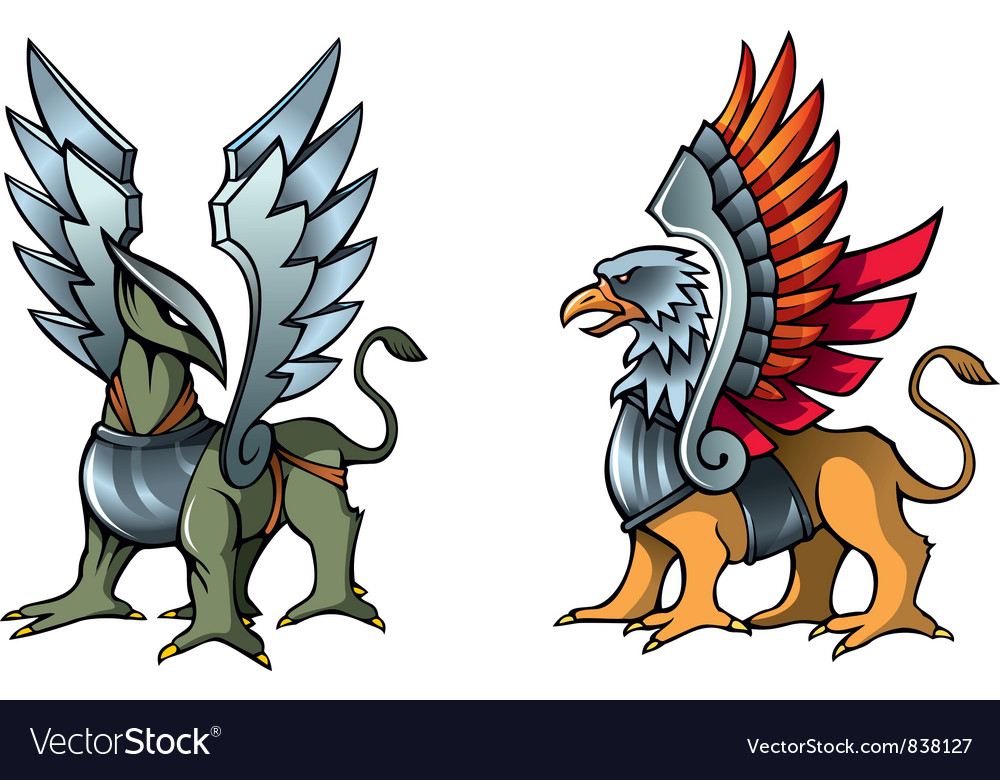 Fairy griffins vector | Price: 1 Credit (USD $1)