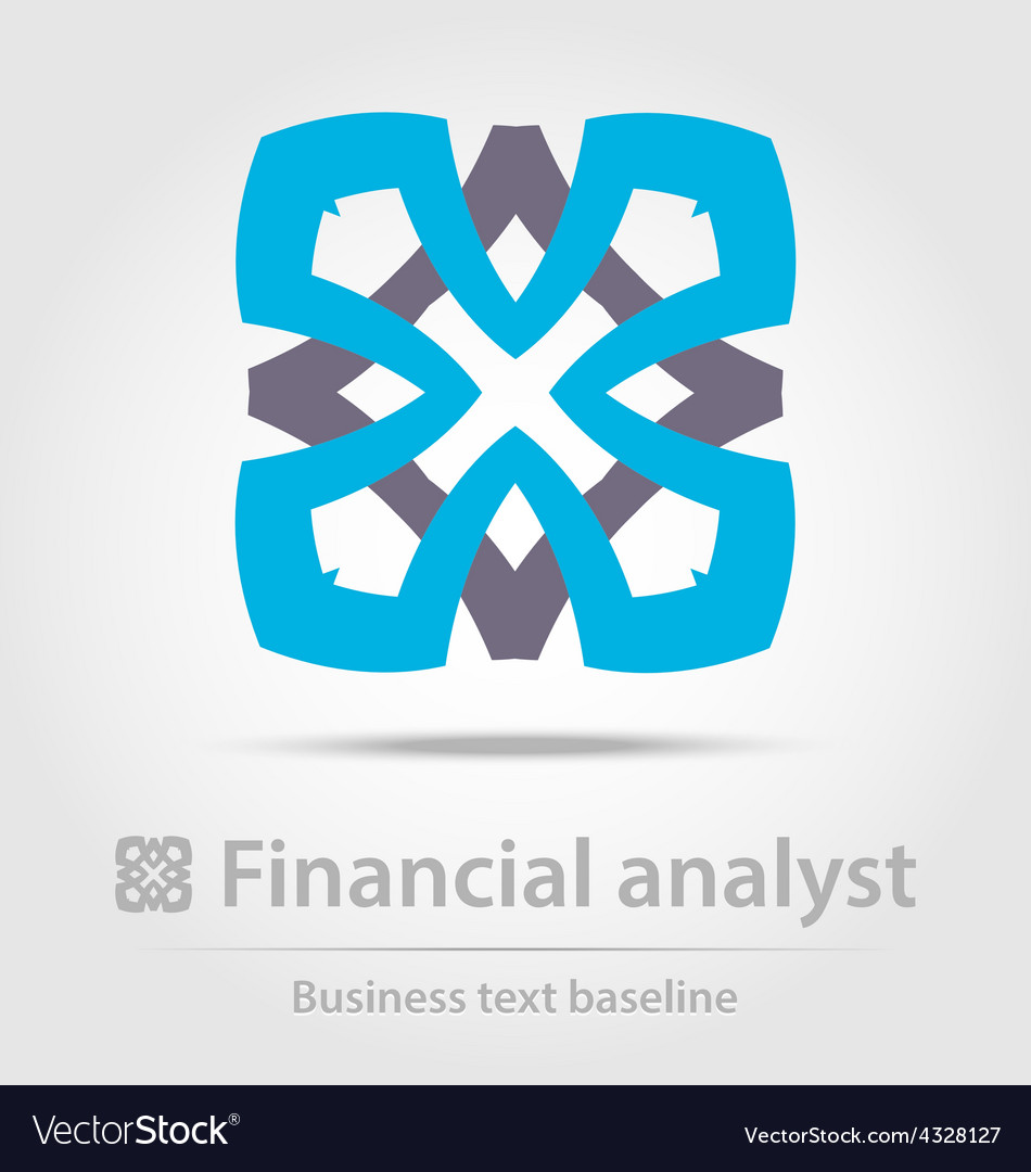 Financial analyst business icon vector | Price: 1 Credit (USD $1)