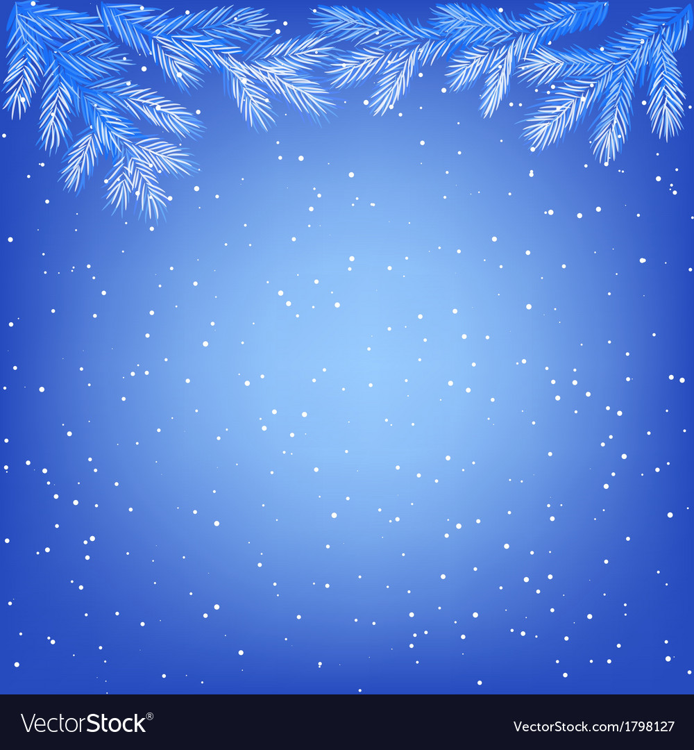 Frozen tree branches vector | Price: 1 Credit (USD $1)