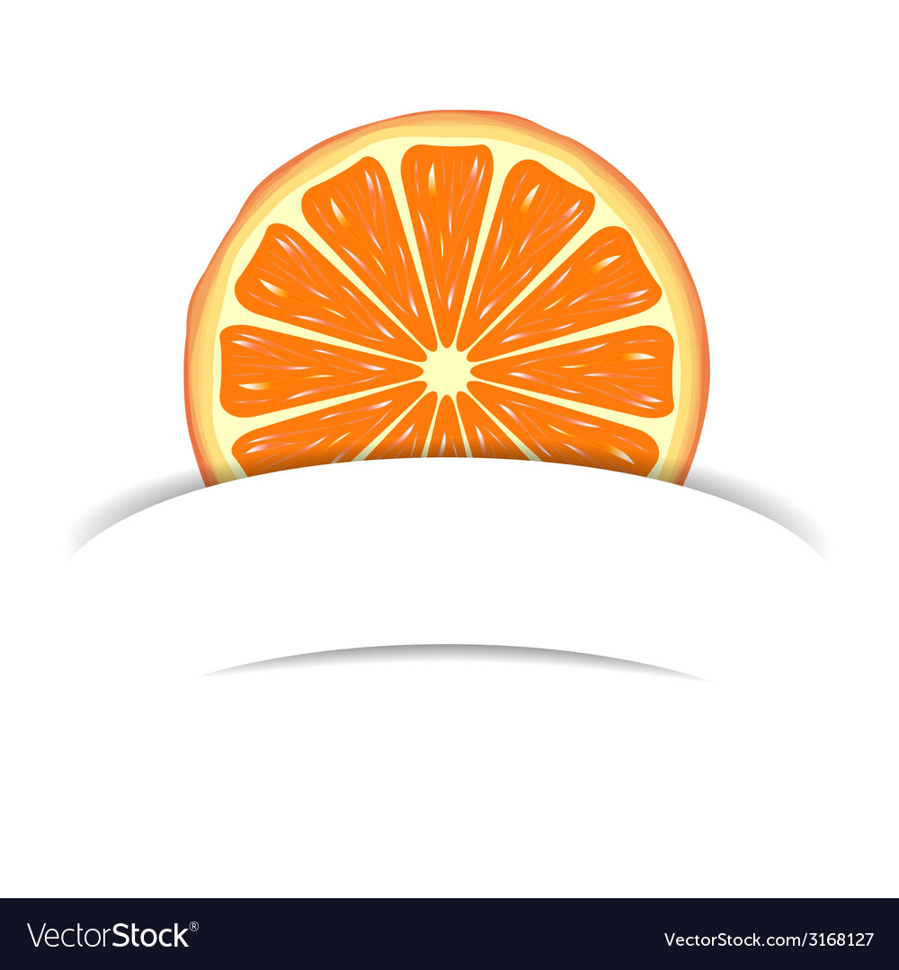 Orange with paper banner vector | Price: 1 Credit (USD $1)