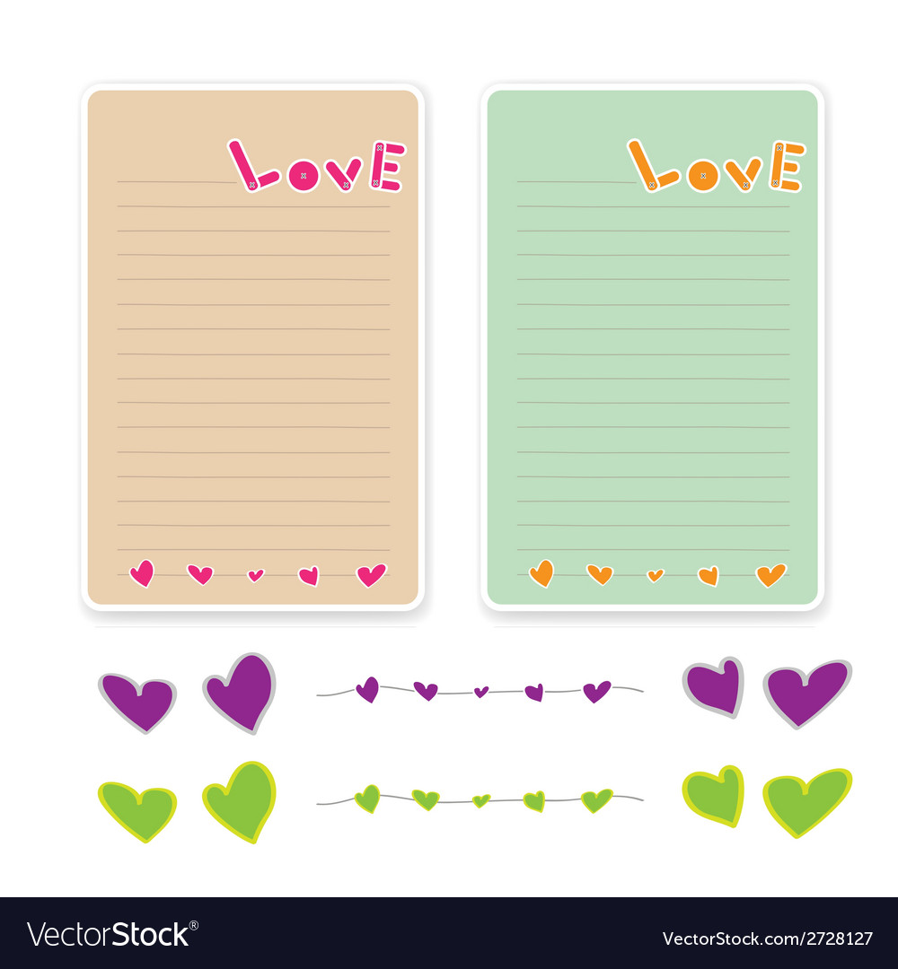 Paper letter of love 001 vector | Price: 1 Credit (USD $1)