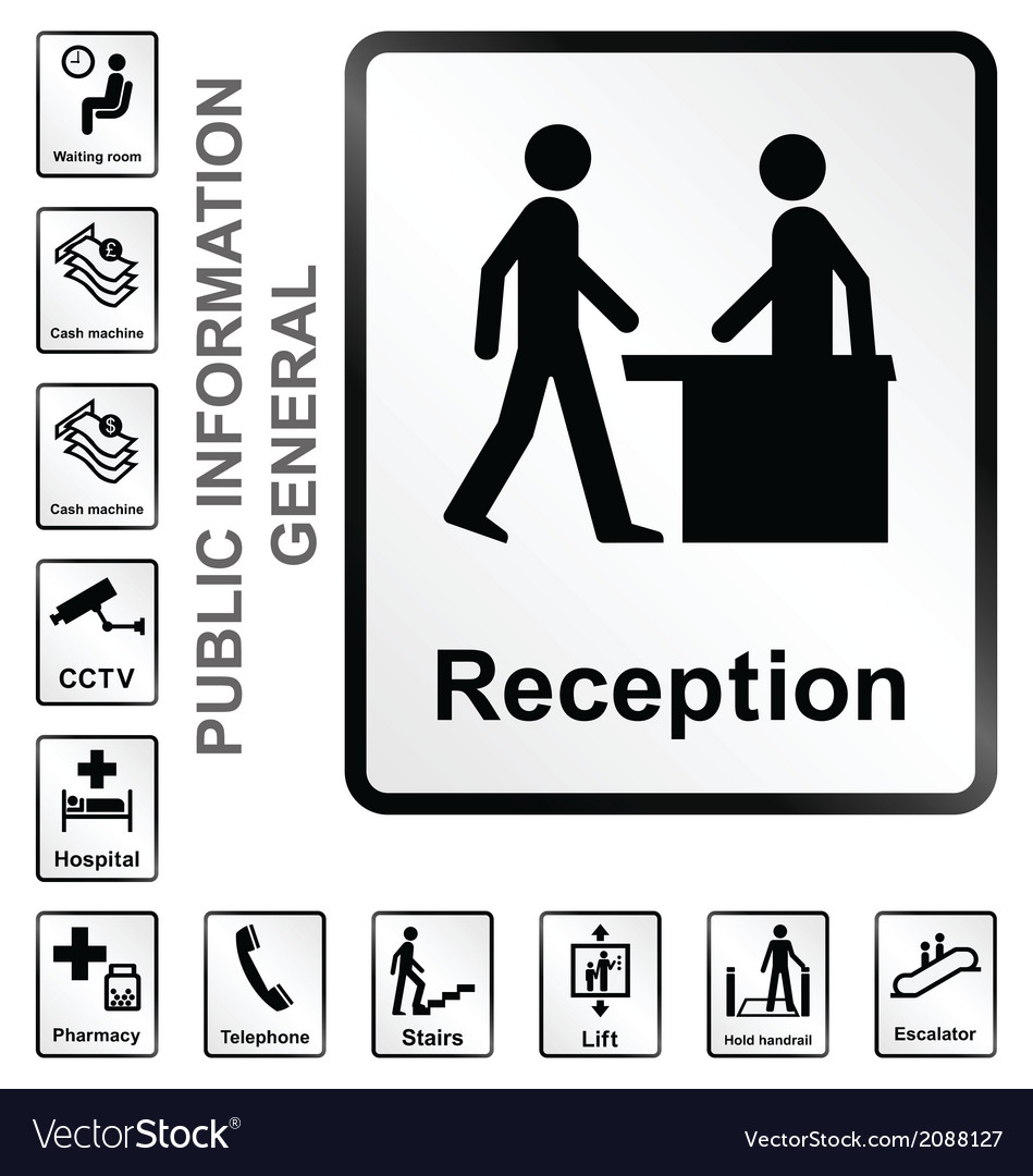 Public information signs vector | Price: 1 Credit (USD $1)