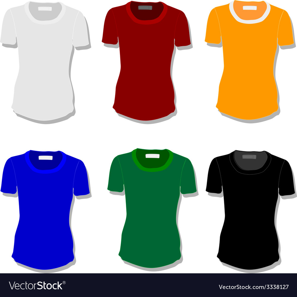 Set women t-shirt vector | Price: 1 Credit (USD $1)
