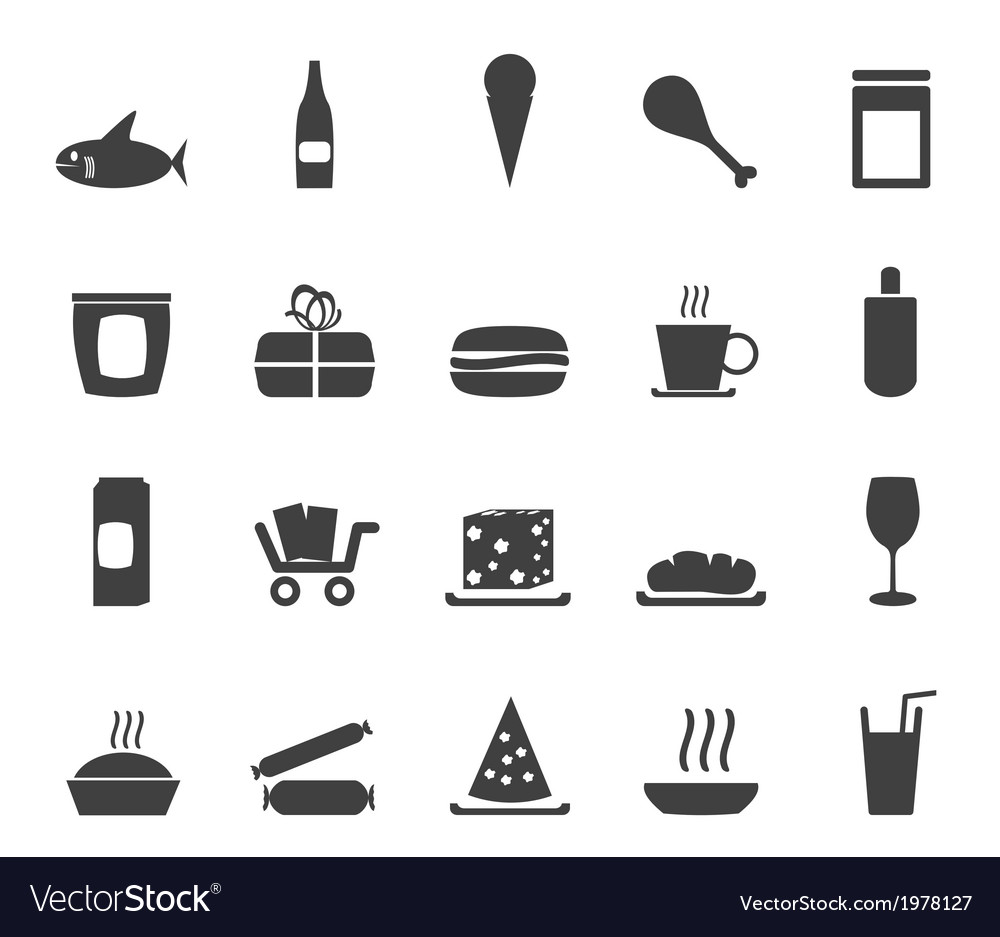 Shop and foods icons vector | Price: 1 Credit (USD $1)