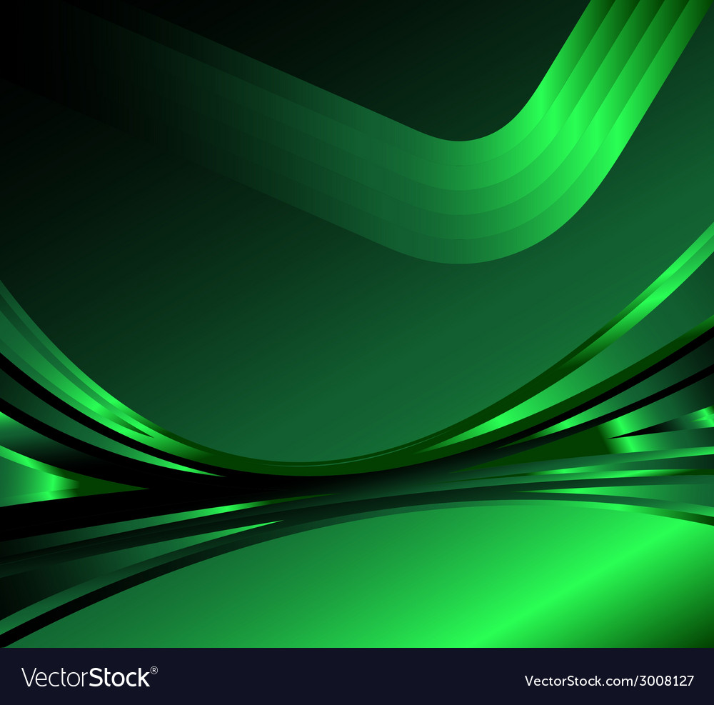 Wave abstract background on the dark green vector | Price: 1 Credit (USD $1)