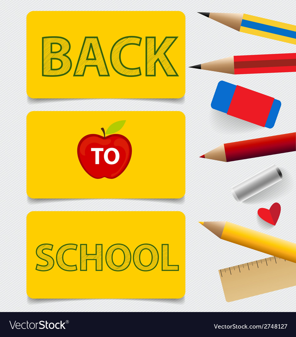 Welcome back to school cute note papers vector | Price: 1 Credit (USD $1)