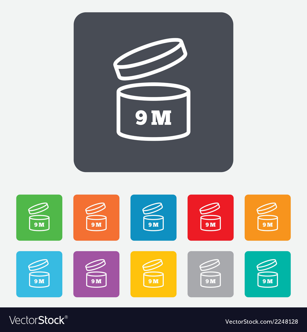 After opening use 9 months sign icon vector | Price: 1 Credit (USD $1)
