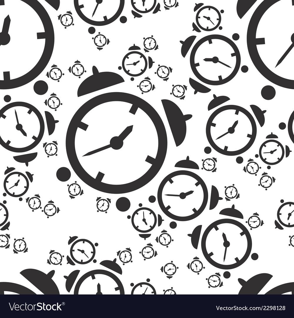 Alarm clock seamless pattern vector | Price: 1 Credit (USD $1)