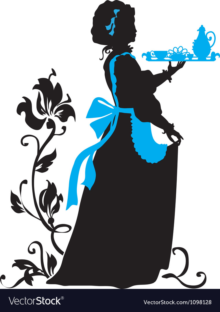 Housemaid silhouette vector | Price: 1 Credit (USD $1)