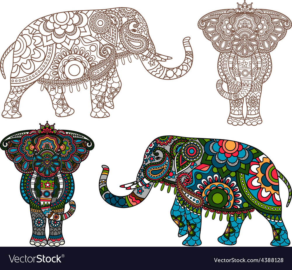 Indian elephant vector | Price: 1 Credit (USD $1)