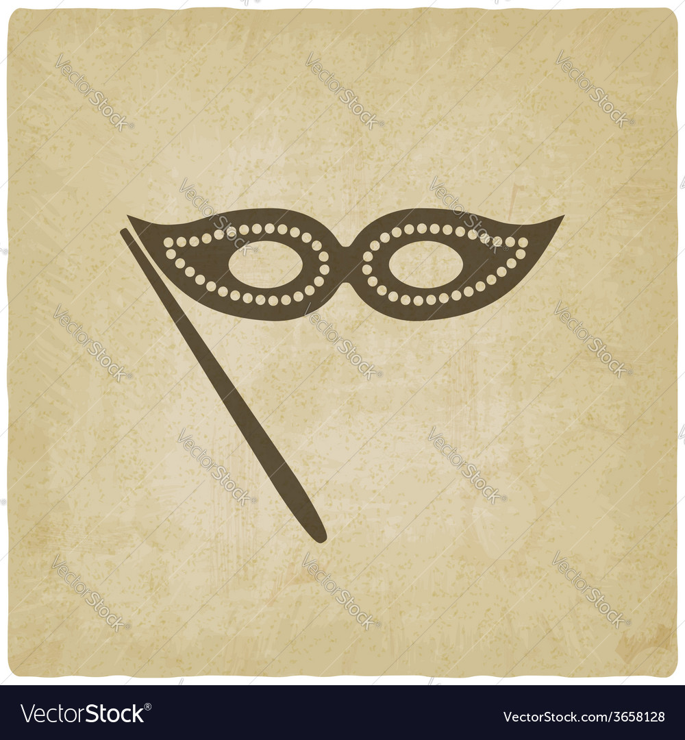 Masquerade mask symbol old background vector | Price: 1 Credit (USD $1)