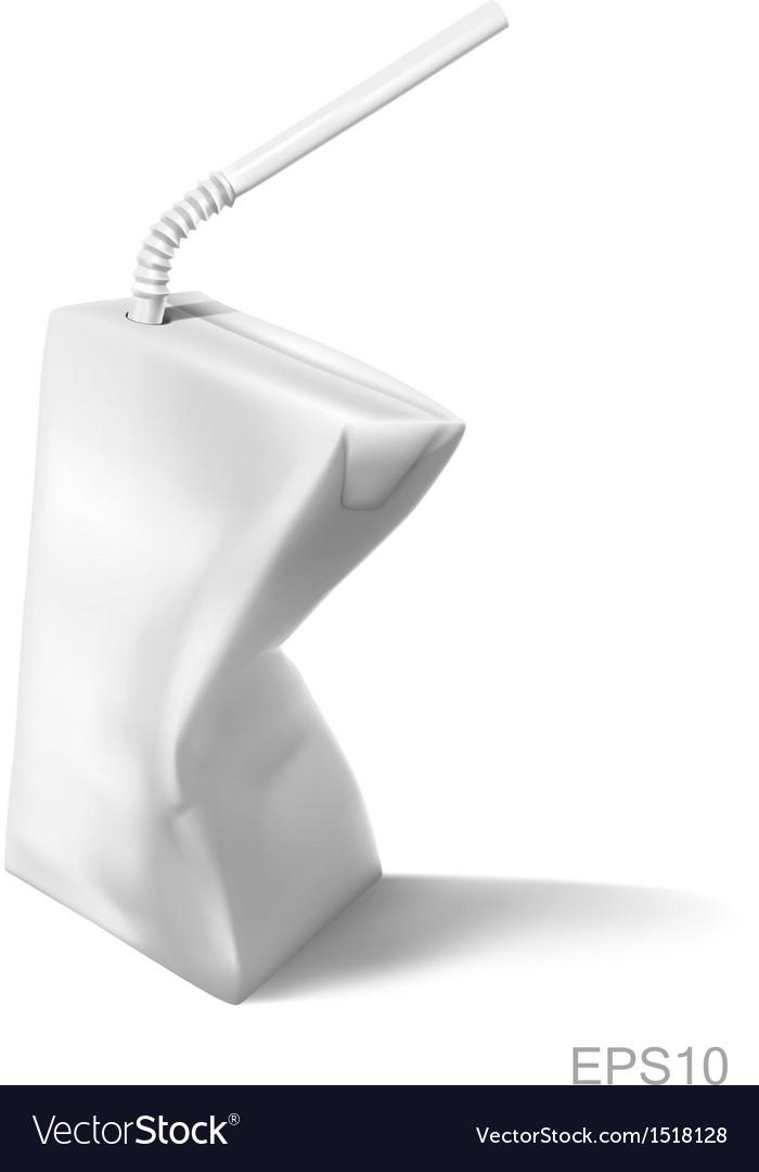 Milk carton on white background vector | Price: 1 Credit (USD $1)