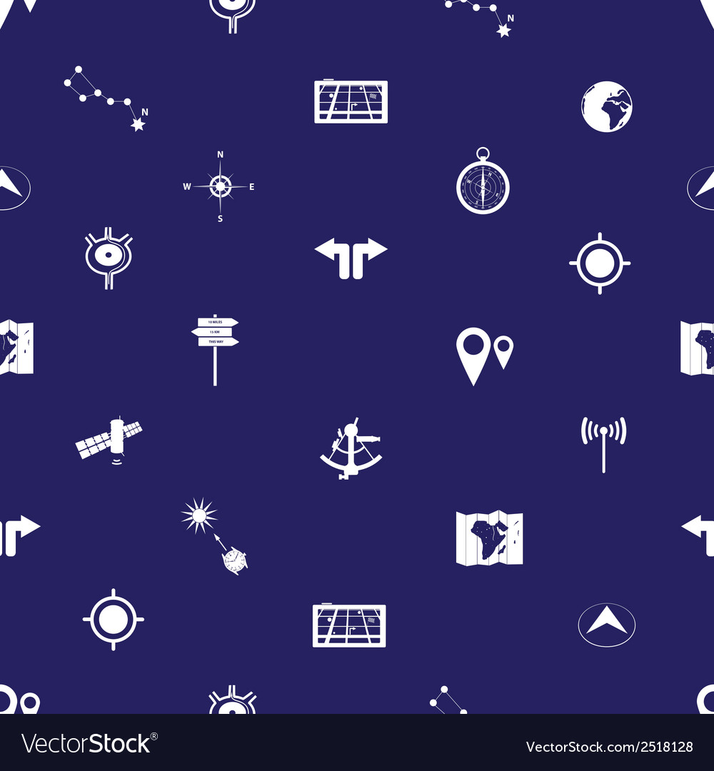 Navigation icons pattern eps10 vector | Price: 1 Credit (USD $1)