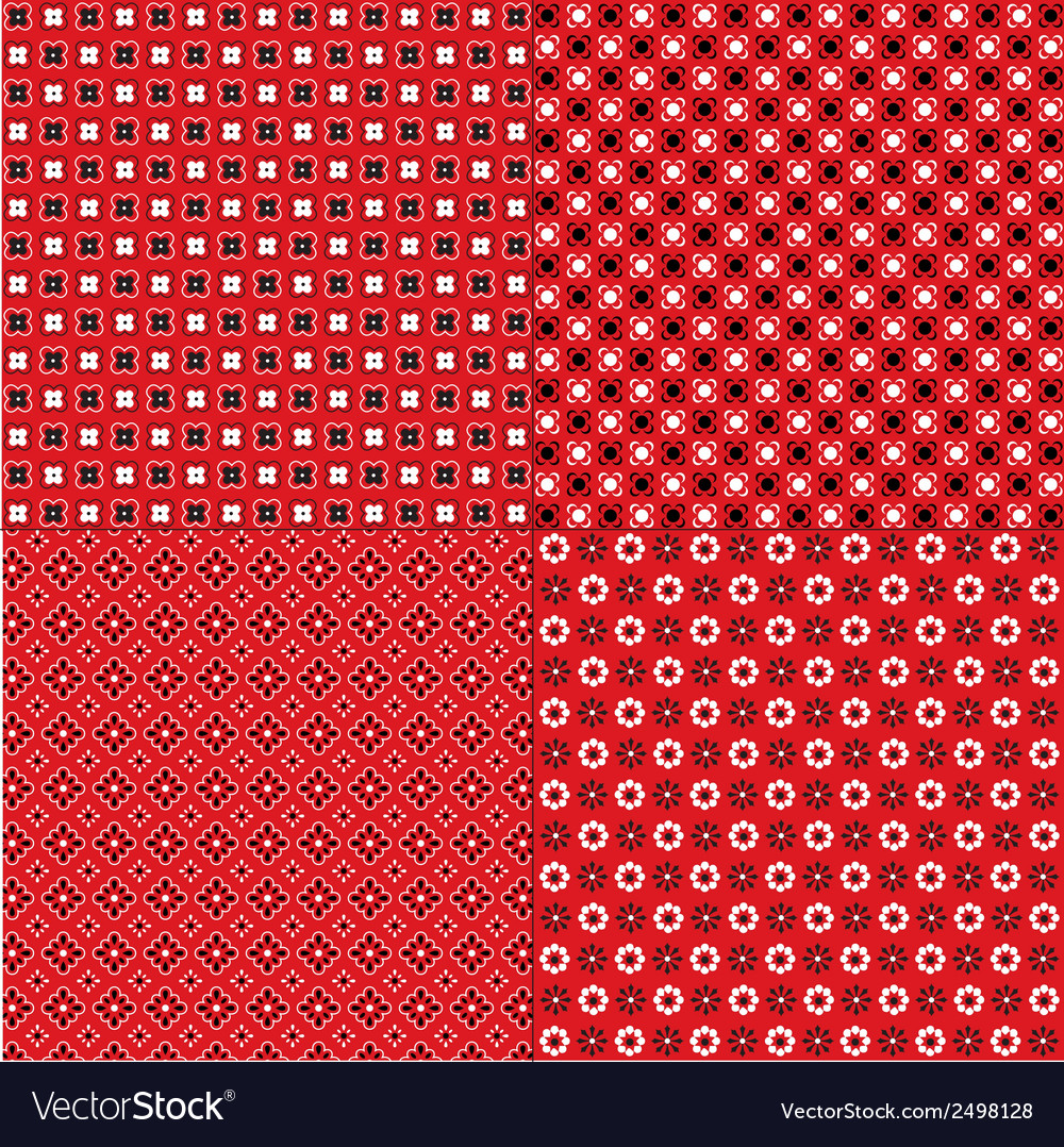 Red bandana patterns vector | Price: 1 Credit (USD $1)