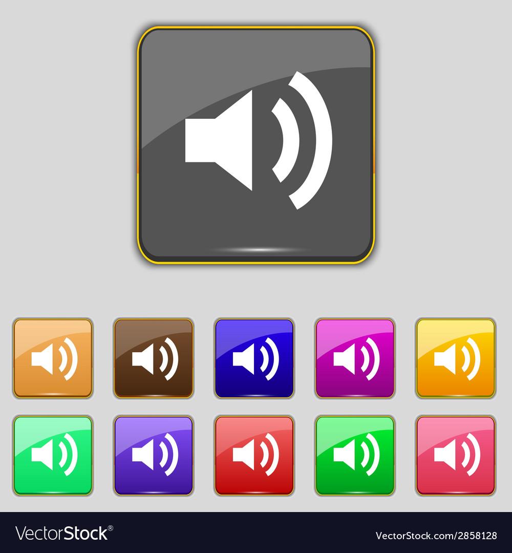 Speaker volume sign icon sound symbol set vector | Price: 1 Credit (USD $1)