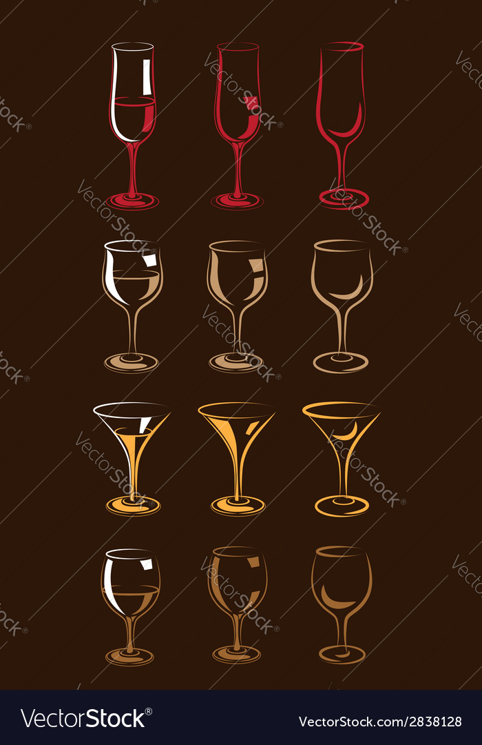 Stylized glasses colorful vector   Price: 1 Credit (USD $1)