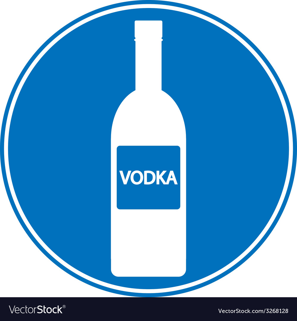 Vodka sign is allowed to drink vector | Price: 1 Credit (USD $1)