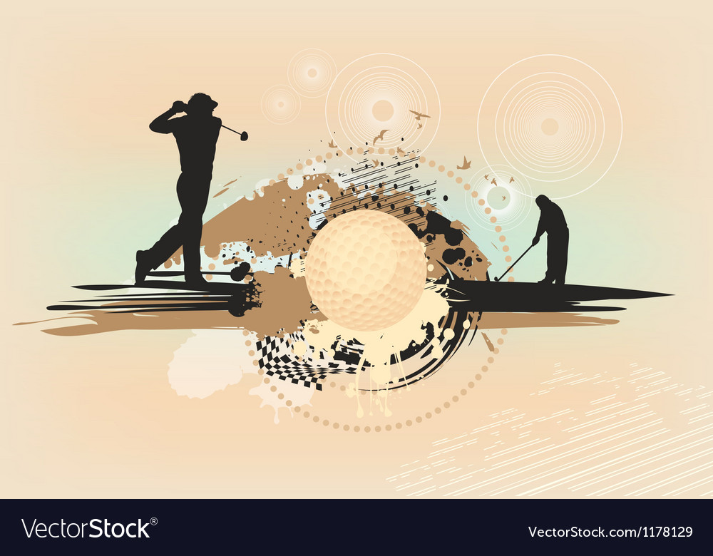 Abstract brown golf background vector | Price: 1 Credit (USD $1)