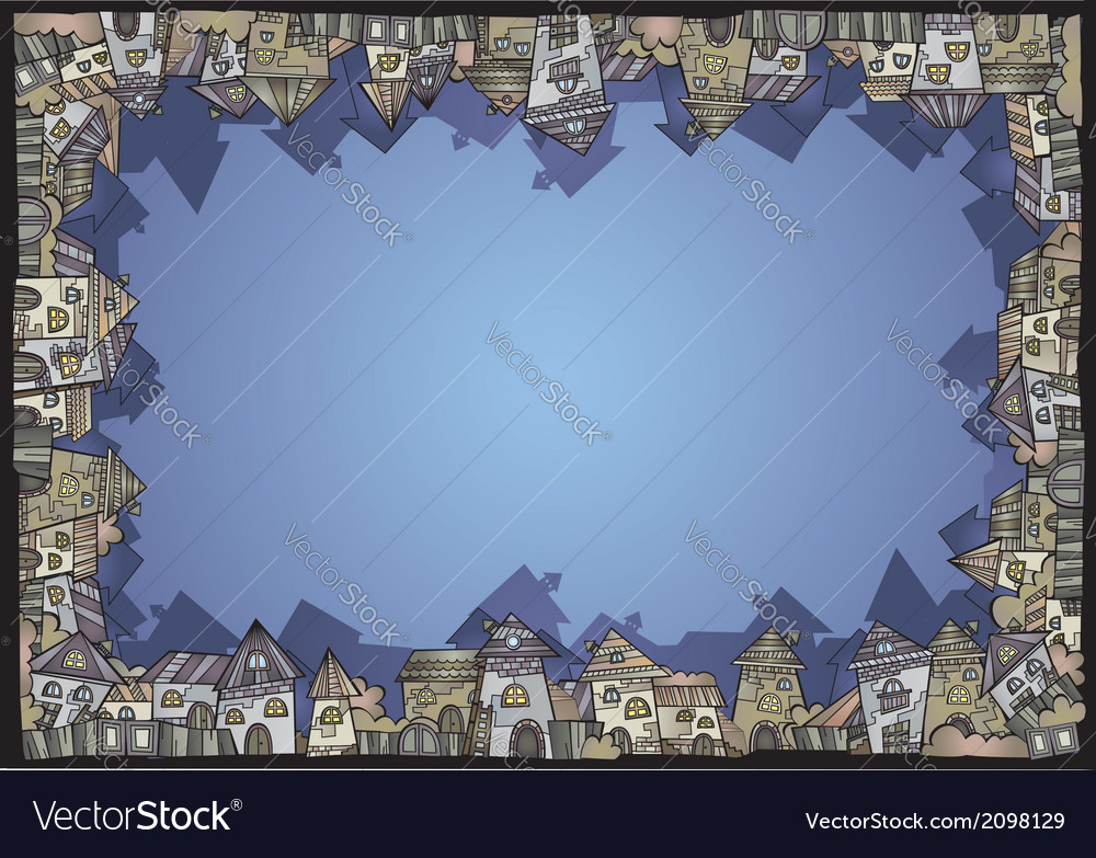 Cartoon construction isolated town border vector | Price: 1 Credit (USD $1)