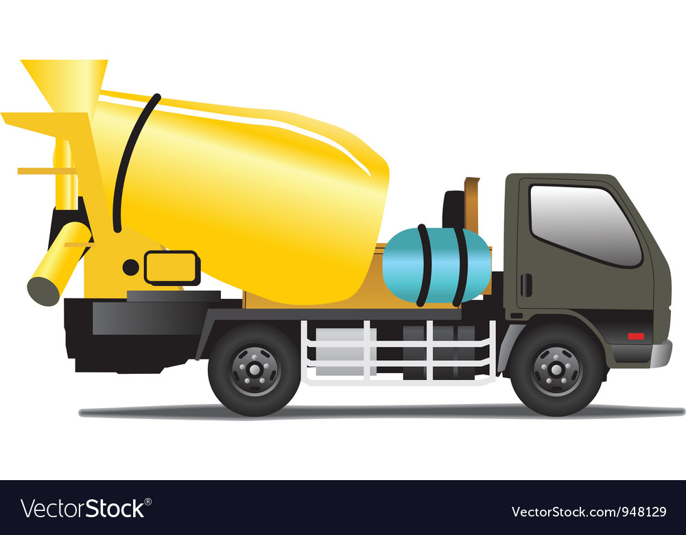 Concrete mixer vector | Price: 1 Credit (USD $1)