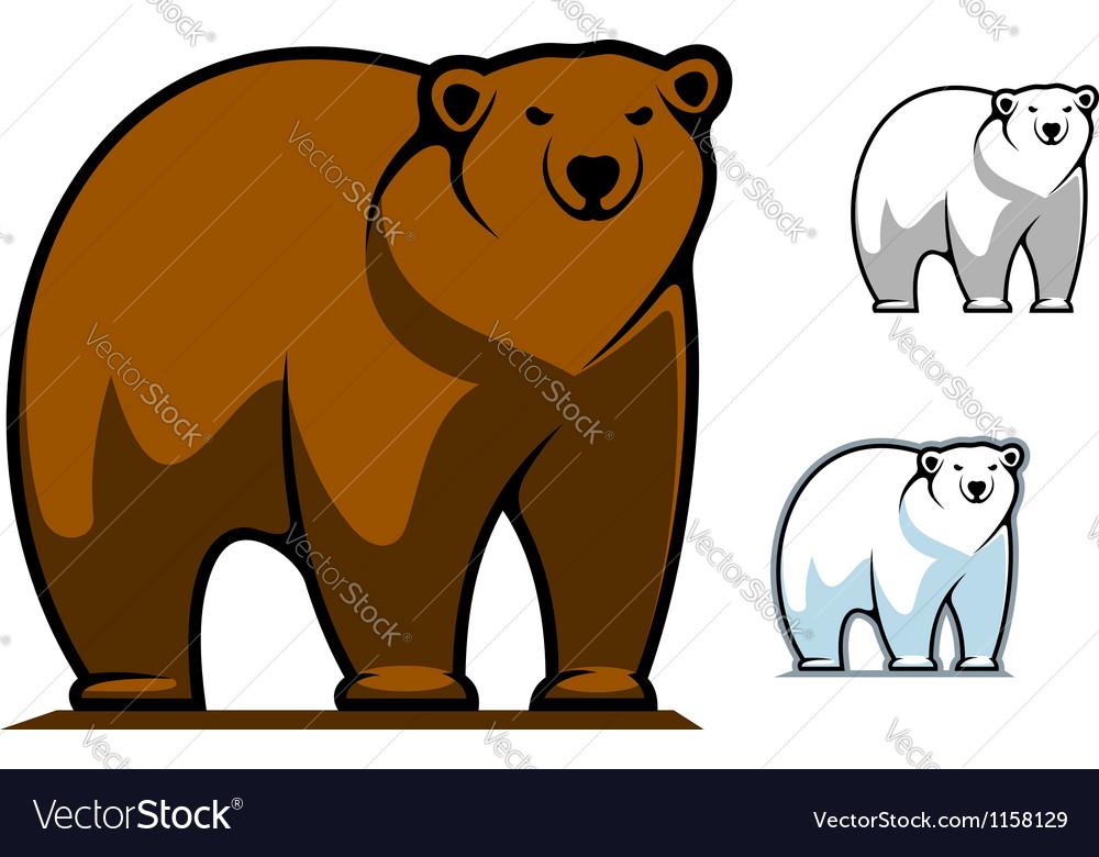 Funny cartoon bear mascot vector | Price: 1 Credit (USD $1)