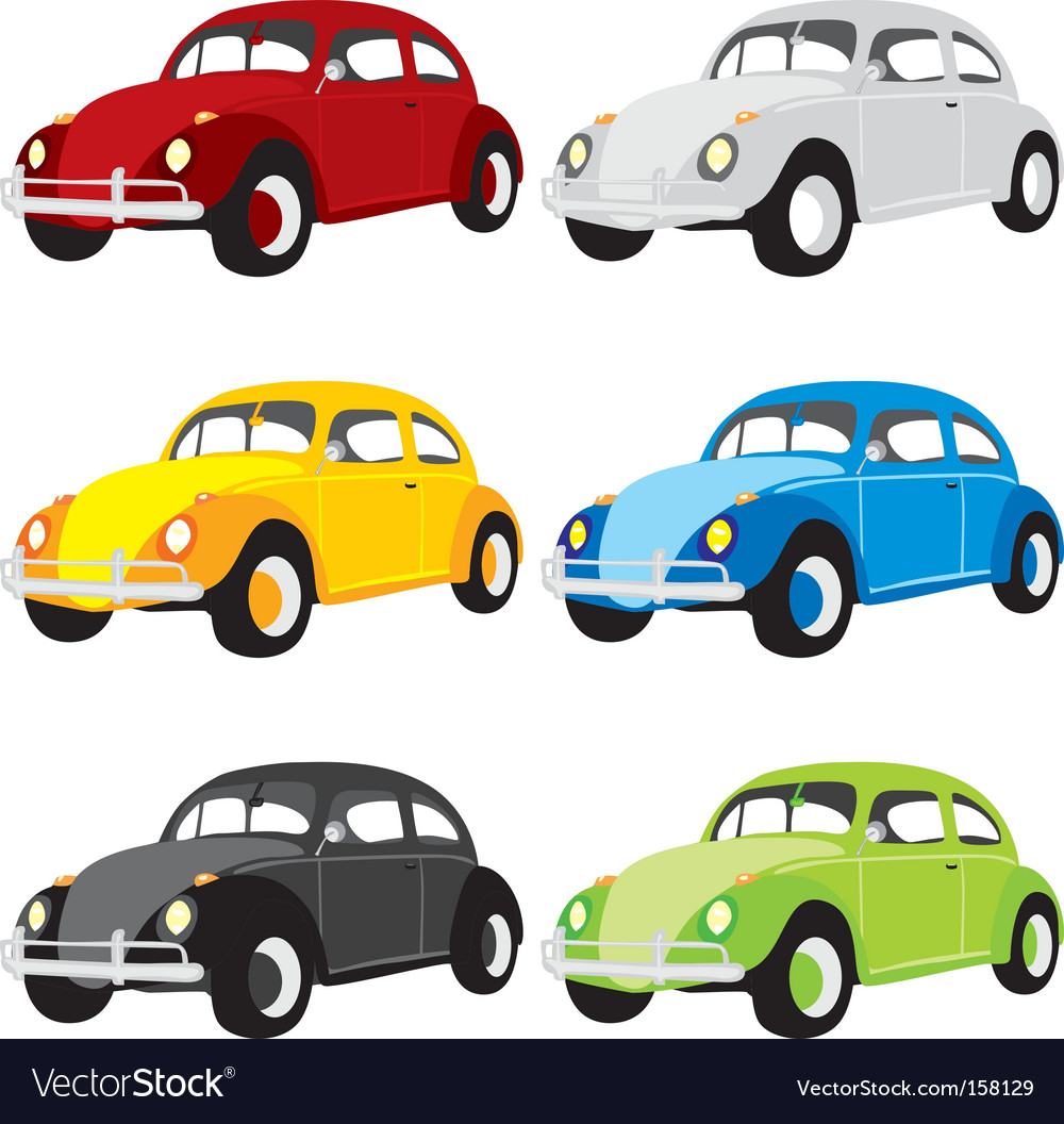 Funny colored cars with details vector | Price: 1 Credit (USD $1)